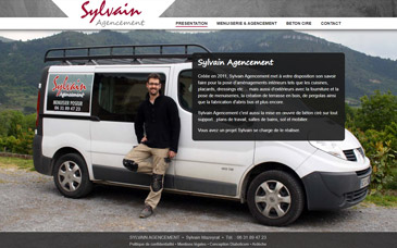 Site internet Sylvain Agencement